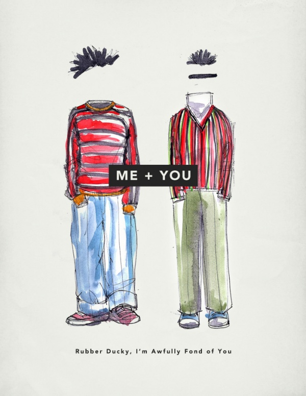 bert ernie Me + You: Valentines Day Cards